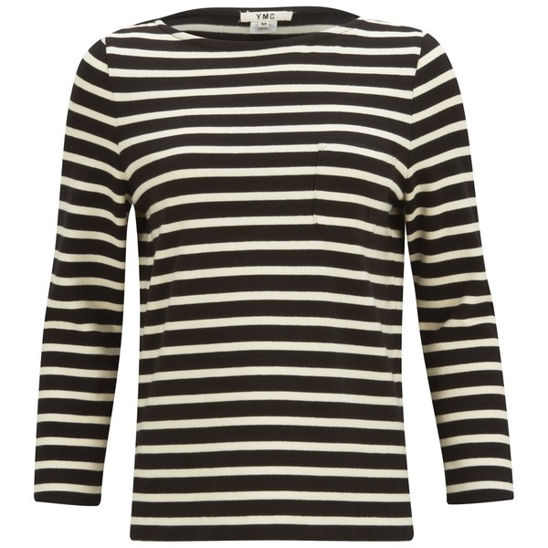 YMC Women's Breton Stripe Long Sleeve Top - Black/Cream