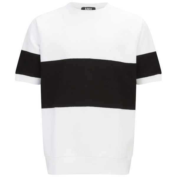 Ashley marc hovelle men 39 s sweat t shirt white black for Sweat free t shirts