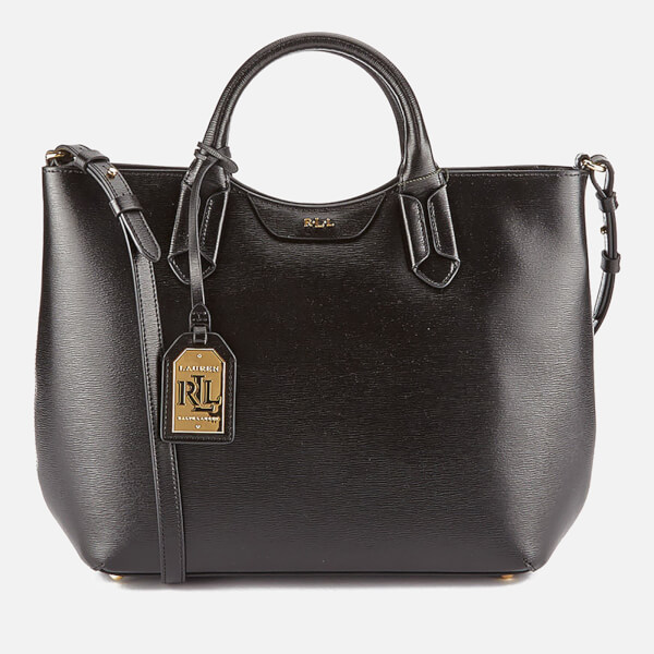 c113a7cf77 ... hot lauren ralph lauren womens tate convertible tote bag black image 1  99539 fd7b7