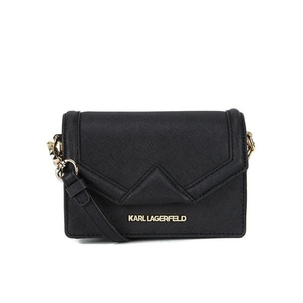 Karl Lagerfeld K/Klassik Super Mini Cross Body Bag - Black