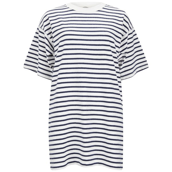 Wood Wood Women's Jean Dress - Navy Stripe