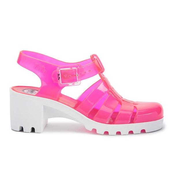 JuJu Women's Babe Heeled Jelly Sandals - Rose/White