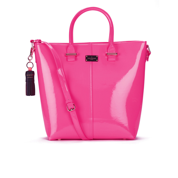 Paul s Boutique Natasha Patent Tote Bag - Pink Womens Accessories ... 32553be40df20