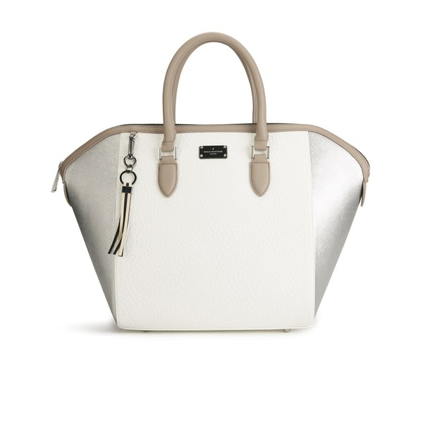 Paul s Boutique Women s Betsy Tote Bag - Metallic Brushed Silver  Image 1 b72c6fd300700