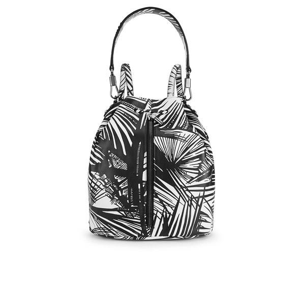 Elizabeth and James Cynnie Sling Bucket Bag - Black/White