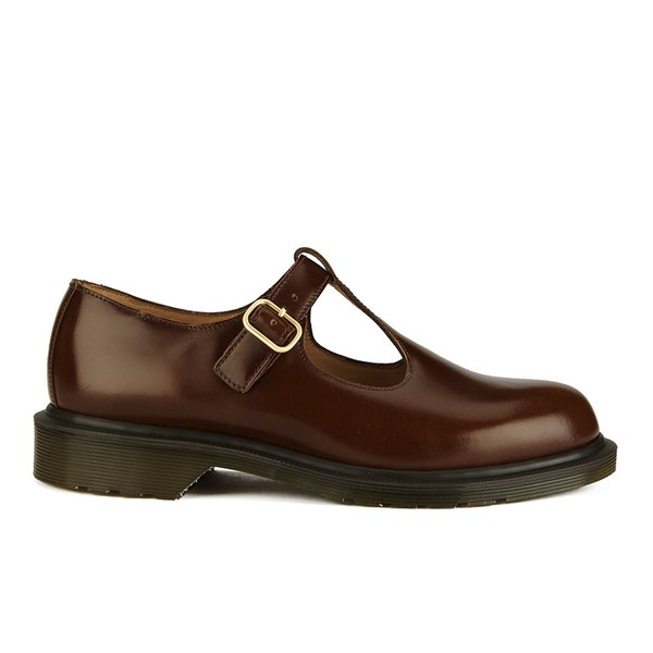 Dr. Martens Women's 'Made in England' Classics Talliah T Bar Leather Flats - Tan Boanil Brush