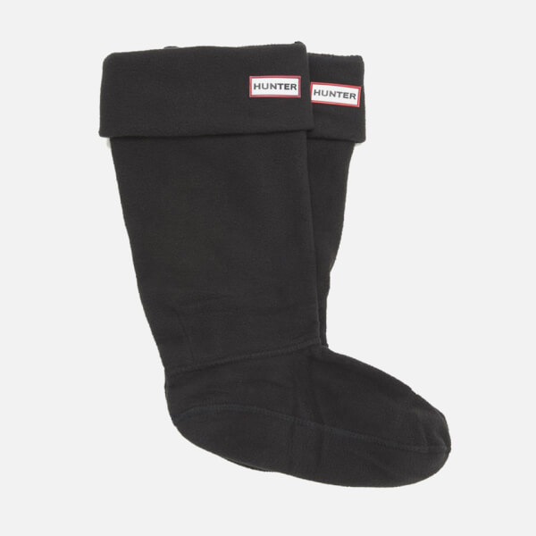 Hunter Unisex Tall Fleece Welly Socks - Black