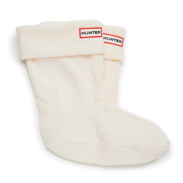 Hunter Unisex Short Fleece Welly Socks - Cream