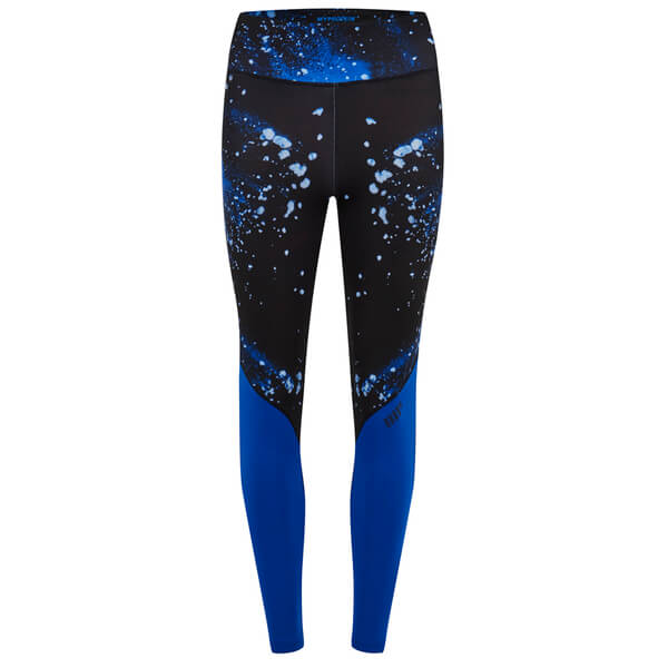 Myprotein Womenu0026#39;s Printed Block Leggings - Blue