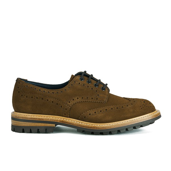 Tricker's Men's Bourton Commando Sole Suede Brogues - Snuff Repello Suede