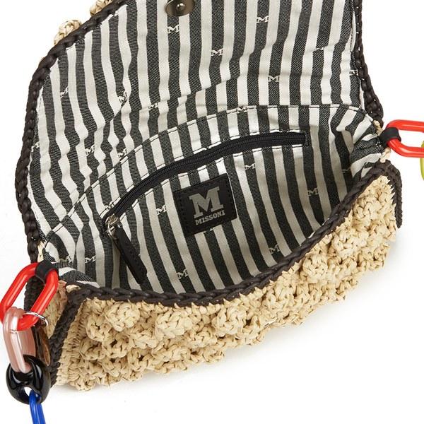 38a4610c5914 M Missoni Women s Raffia Shoulder Bag - Beige  Image 4