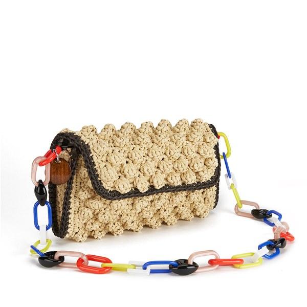 8949daa1d5be M Missoni Women s Raffia Shoulder Bag - Beige  Image 2