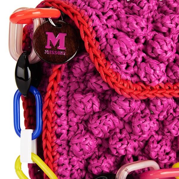 3c5e7c3709e9 M Missoni Women s Raffia Shoulder Bag - Pink  Image 3
