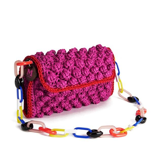 13eaf0d901ae M Missoni Women s Raffia Shoulder Bag - Pink  Image 2