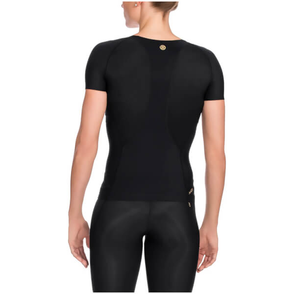 Skins A400 Women s Compression Short Sleeve Top - Black Sports ... e2529d74e