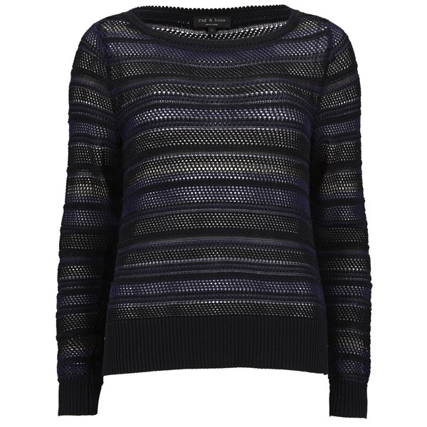rag & bone Women's Cassie Boatneck Jumper - Black
