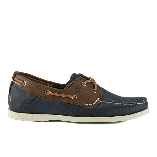 timberland men's earthkeepers heritage 2 eye boat shoes brown