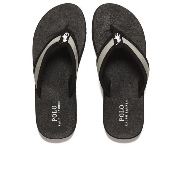 Polo Ralph Lauren Men s Almer II -Ne Flip Flops - Black Museum Grey ... b3d0706f9b3