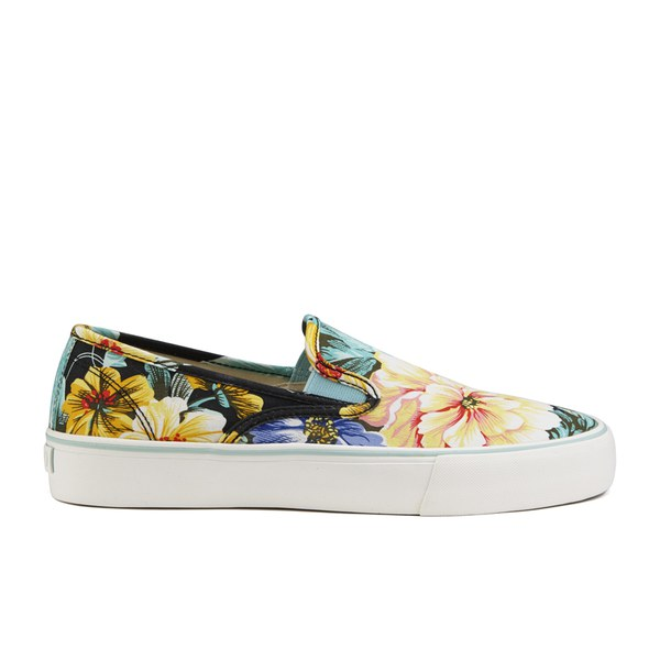 Polo Ralph Lauren Men's Mytton NE Floral Slip On Trainers - Black Multi