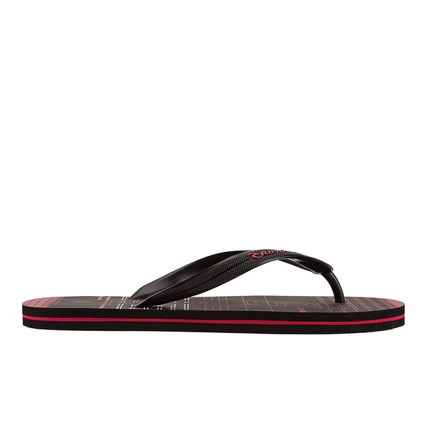 Rip Curl Men's Space Jam EVA Flip Flops - Black/Red
