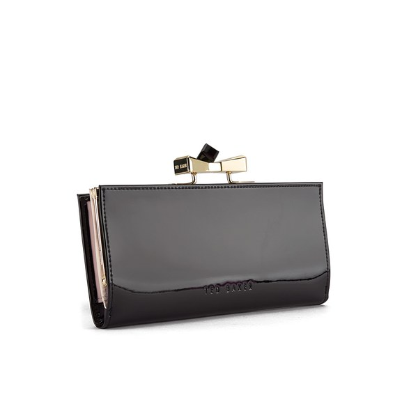 94bf8801d294b Ted Baker Women s Franny Patent Square Crystal Popper Back Matinee Purse -  Black  Image 2
