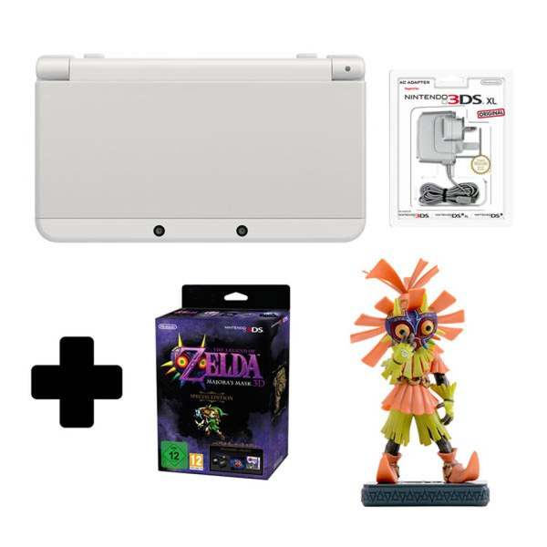 New Nintendo 3DS White + Majoras Mask 3D Special Edition