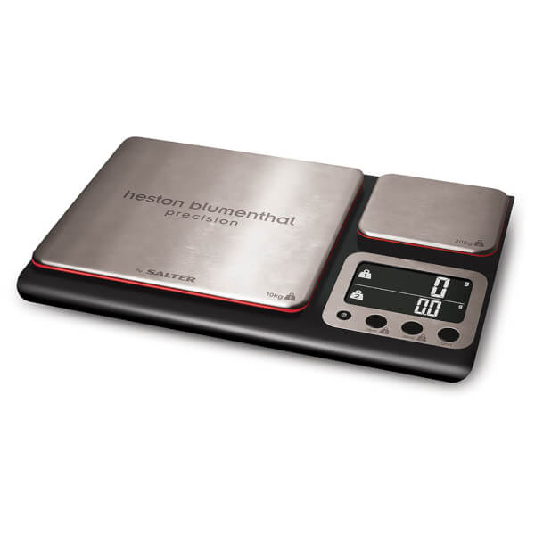 Heston Blumenthal by Salter Dual Precision Digital Scale - Black/Stainless Steel - 10kg
