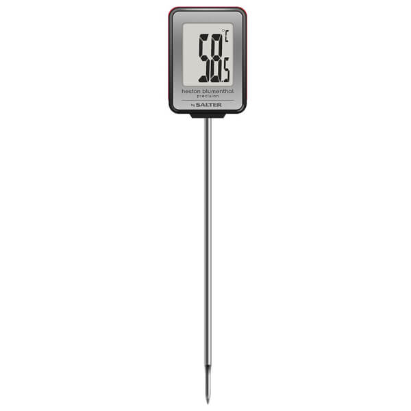 Heston Blumenthal by Salter Instant Read Digital Thermometer - Black/Stainless Steel