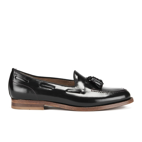 H Shoes by Hudson Women's Stanford High Shine Tassel Loafers - Black