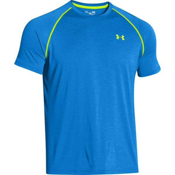 Under Armour Men 39 S Tech T Shirt Jet Blue Hi Vis Yellow