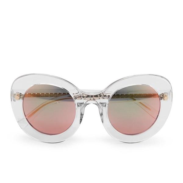 Matthew Williamson Women's Sun Sunglasses with Peach Mirror Lens - Clear