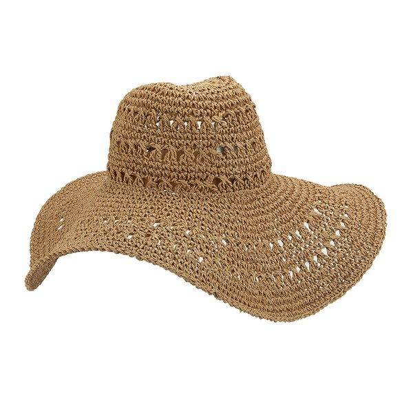 French Connection Women s Signa Floppy Hat - Natural  Image 4 baca46ab760
