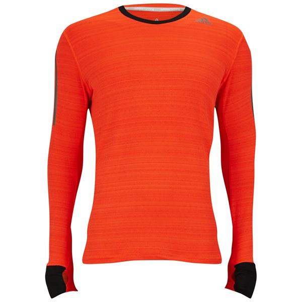 adidas Supernova Men s Long Sleeve T-Shirt - Solar Red Black Sports ... bbbd3ec0a