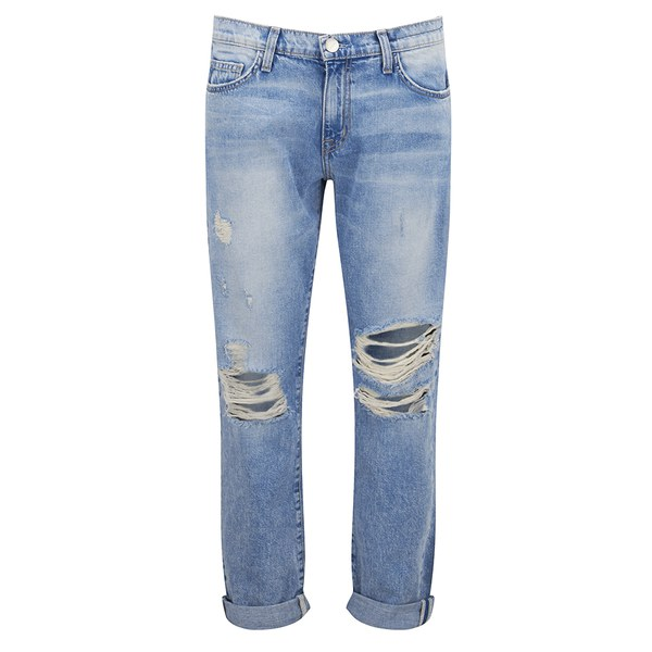 Current/Elliott Women's The Fling Boyfriend Fit Jeans - Point Break Destroy