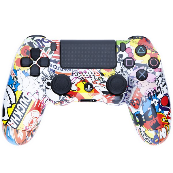 Playstation dualshock 4 custom controller sticker bomb for Housse manette ps4