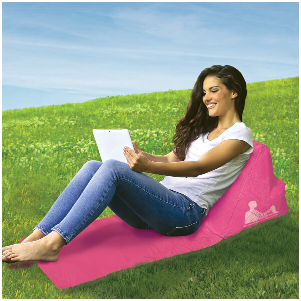 Escape Wicked Wedge Inflatable Lounger (Single) - Pink