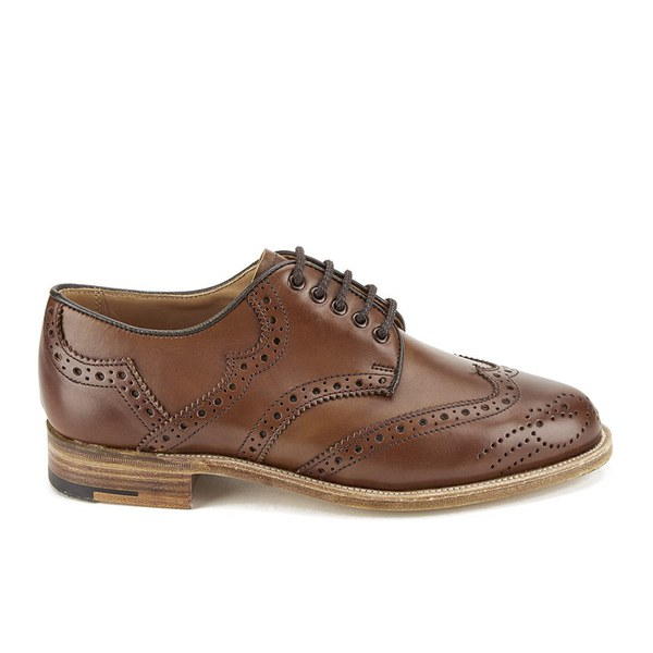 Knutsford by Tricker's Women's Leather Brogue Shoes - Beechnut