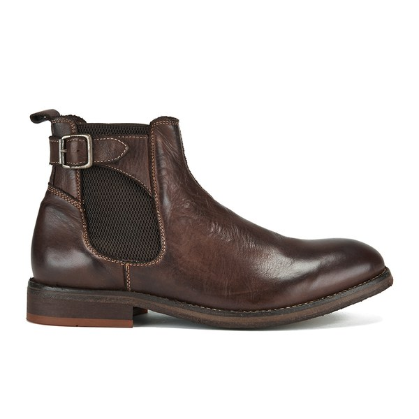 H Shoes by Hudson Men's Parson Drum Dye Chelsea Boots - Brown