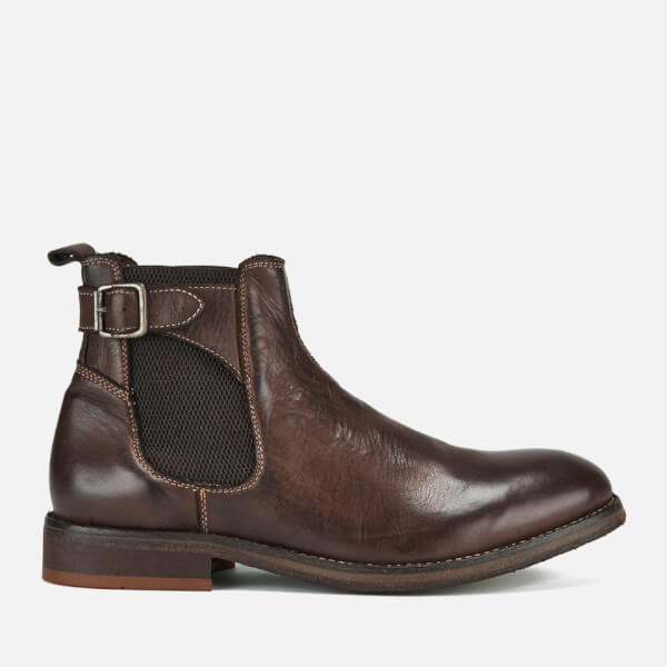 Hudson London Men's Parson Drum Dye Chelsea Boots - Brown