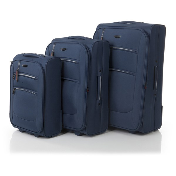 Redland '50FIVE Collection' 2 Wheel Trolley Suitcase Set - Navy - 75/65/55cm (3 Piece)