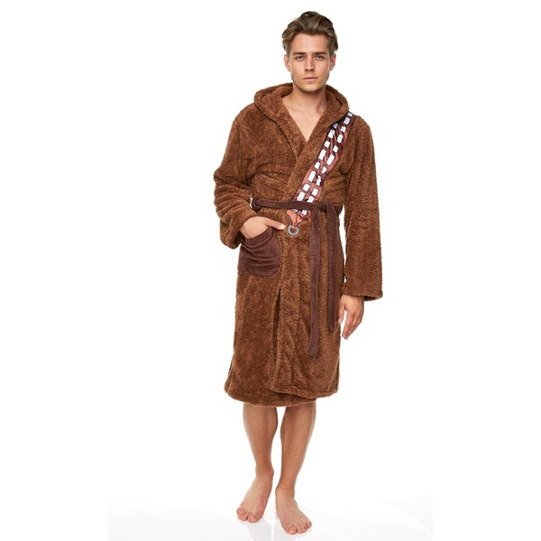 chewbacca star wars fleece robe iwoot. Black Bedroom Furniture Sets. Home Design Ideas