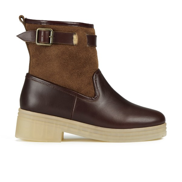 F-Troupe Women's Leather/Sheepskin Lined Hunting Boots - Chestnut