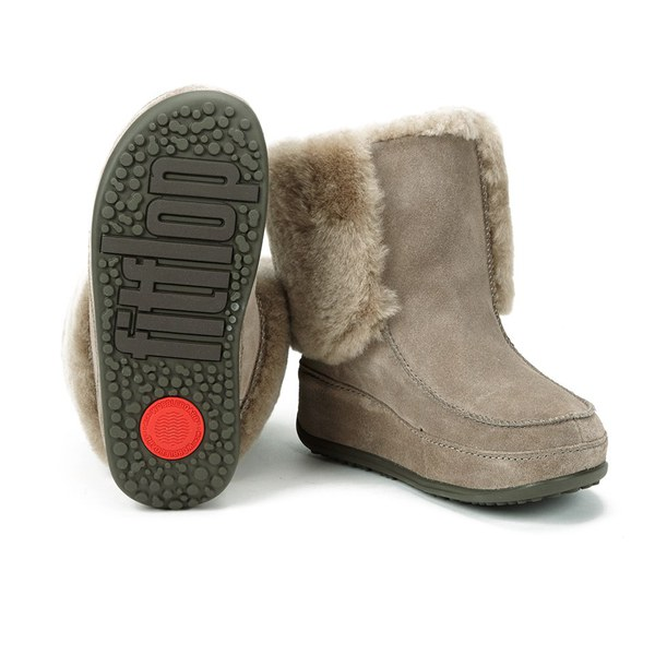 FitFlop Women\u0027s Mukluk Moc Cuff Suede Shearling Lined Boots - Bungee Cord:  Image 6
