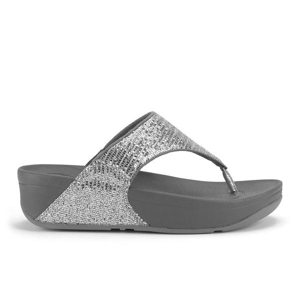 Silver Flip Flop Sandals
