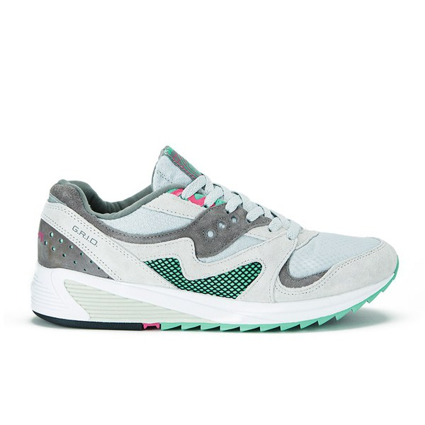 Saucony Men's Grid 8000 Premium Trainers - Light Grey/Dark Grey