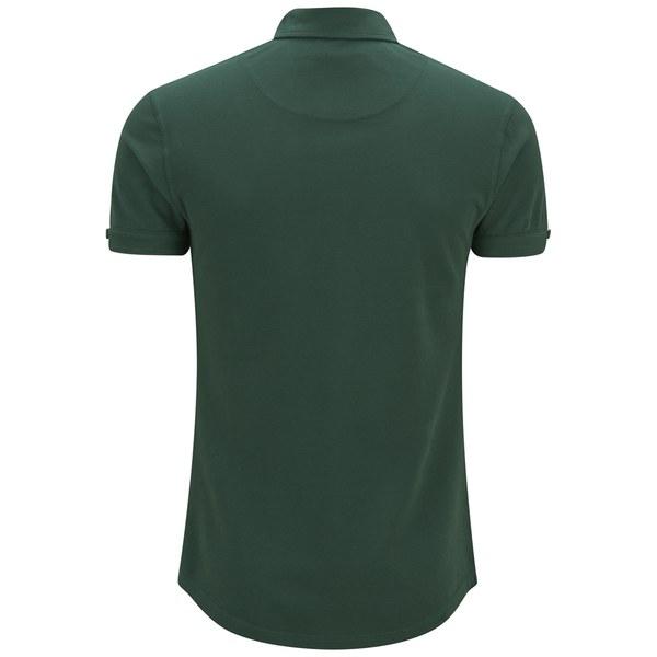 Orlebar Brown Men 39 S Long Placket Polo Shirt Green Free