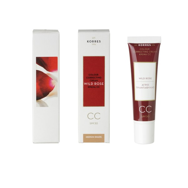 Korres Wild Rose CC Cream - Medium SPF30 (30ml)