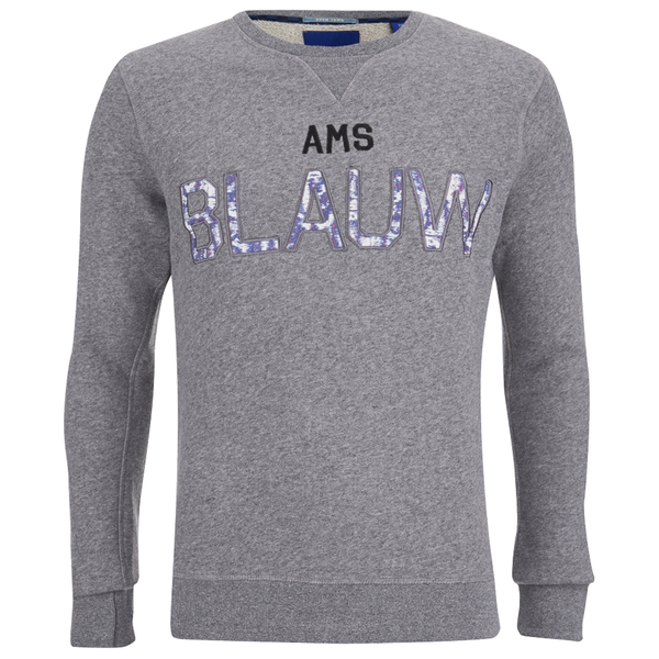 Scotch & Soda Men's Amsterdam Blauw Crew Neck Sweatshirt - Grey: Image 1