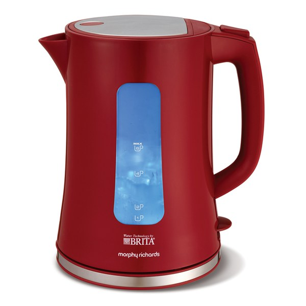 morphy richards red kitchen accessories morphy richards 120002 brita accents kettle homeware 9291