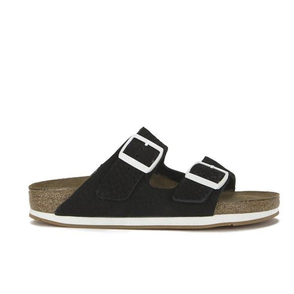 2da9f4cb1ee Birkenstock Women s Arizona Slim Fit Double Strap Soft Leather Sandals -  Softy Black  Image 1